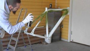 pintar bici con spray